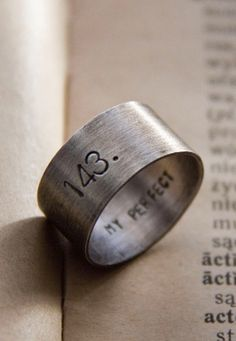 Secret message ring-- use a page number, date, or any other simple reference that only you and your love would know.