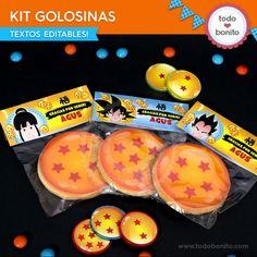 Dragon Ball: kit etiquetas de golosinas