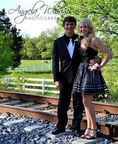 Prom / Homecoming photos: Take a picture for prom on nearby railroad tracks Prom Pictures Couples, Prom Couples, Prom Photos, Dance Pictures, Prom Pics, Dance Pics, Prom Picture Poses, Senior Picture Outfits, Photo Poses
