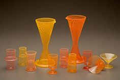 Two Tone Studios : contemporary glass design : blown glass decanters, cups, vases, bowls and custom work : Boyd Sugiki & Lisa Zerkowitz : Pacific Northwest Glass Art, Seattle WA