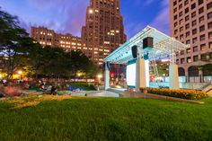 $0 - New Center Park: Right next to Midtown, New Center Park offers a refreshing outdoor ambiance. Free movie screenings and live music performances run June through August, making it an ideal, cost-effective place to check out with your loved one. Located just west of the intersection of Woodward Avenue and Grand Boulevard. Photo via newcenterpark.com