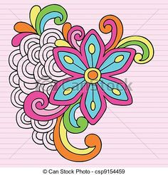 EPS Vectors of Groovy Doodles Flower Vector Design - Groovy Psychedelic... csp9154459 - Search Clip Art, Illustration, Drawings and Clipart Vector Graphics Images