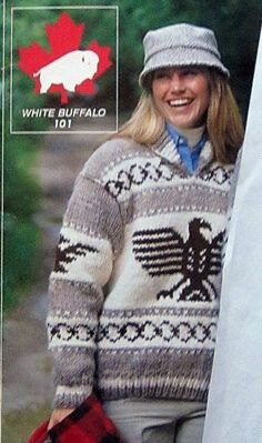 Cowichan EAGLE THUNDERBIRD sweater knitting pattern adult Pullover outdoors from Raincoaststudio on Etsy