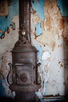 Pot Belly Stove by Clare Barboza Photography