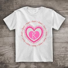 Personalized Valentines Day t-shirt gift for her by StoykoTs