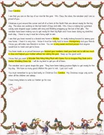 ezsantaletters com santa letter for child with a new baby in