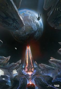 Halo 4 Promo Art - by John Liberto