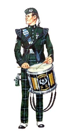 Drummer from the regimental band of the Cameronians.