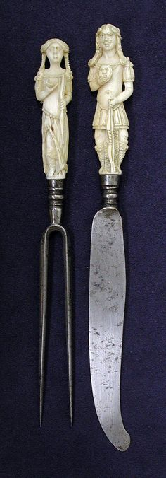 Knife and fork, late 18th C - Dutch or British