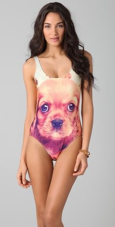 Love cute puppies? Show it off with this We Are Handsome Swimsuit :)  #puppies #swimsuit #We_Are_Handsome #summer #style