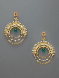 round pearl chain earrings (Azaara?)