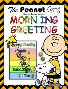 The Peanuts Gang Charlie Brown Inspired Morning Greeting Sign/ Choices