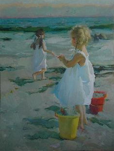 Nancy Seamons-Crookston ༺ß༻ Abstract Canvas, Oil Painting On Canvas, Painting Abstract, Acrylic Flowers, Palette Knife Painting, Beach Art, Oeuvre D'art, Art For Kids, Portraits