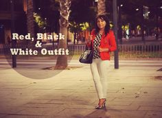 Red, Black & White #Outfit