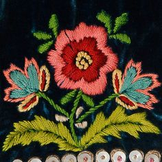 decoration on a bodice - Ethnographic Pattern Book #folkembroidery