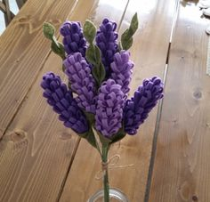 Lavender Felt Flower Bouquet