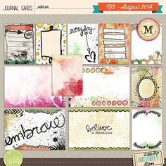 Journal Cards - M3 August 2014 by Little Butterfly Wings at The Lilypad