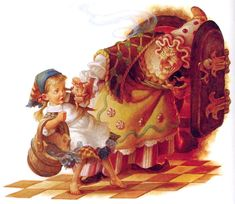 Gretel, the Witch and the OVEN! -- from Hansel and Gretel -- by Scott Gustafson