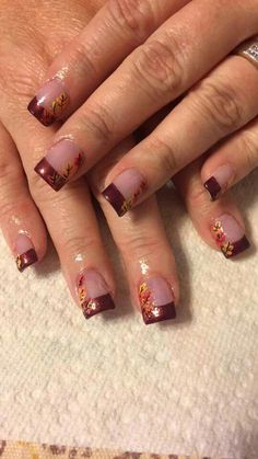 Thanksgiving nails. fall nail colors design, autumn nails colors design
