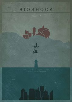 Image result for minimalist poster bioshock infinite