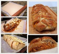 Stuffed Spaghetti Bread....this looks wretched...yet for some reason, I'm tempted to make it.