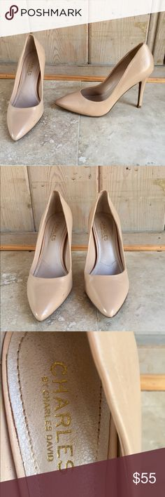 CHARLES BY CHARLES DAVID NUDE HEEL CHARLES DAVID NUDE HEEL - purchased from Nordstrom. Worn once - wonderful condition. Super flattering. Slight scuff on right shoe (last picture). Charles David Shoes Heels