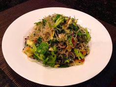"Yummy Asian Kelp noodle salad with lime-coconut ""soy-free"" sauce"