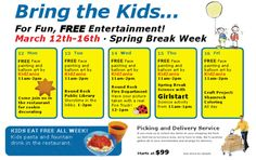 Ikea has free Spring Break activities. Thanks to Free Fun in Austin for the tip!