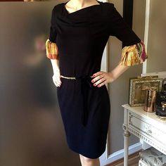 LuxuryCouture / Čierne šaty s volánovými rukávmi