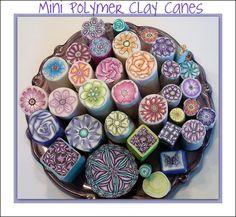 Raw polymer clay mini canes