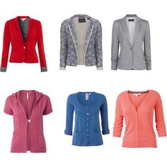 """""""Natural Classic Blazers and Cardigans"""" by tayachroma on Polyvore"""