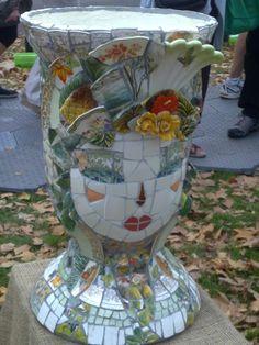 Matching mosaic urn, Melbourne garden show, 2012.