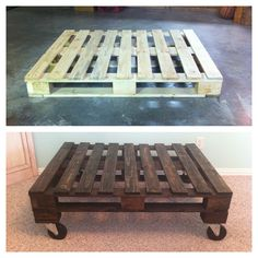 our coffee table pallet furniture project <3
