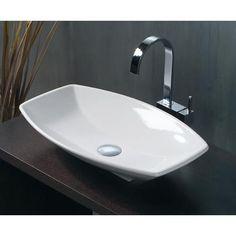 Ceramica White 23 x 15 Vessel Sink