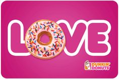 Share the Dunkin' love with your special someone by purchasing a Valentine's Day themed mGift! Click pin for more deets.