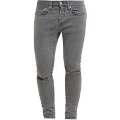 Topman STRETCH SKINNY (178.000 COP) ❤ liked on Polyvore featuring mens, men's clothing and men's jeans