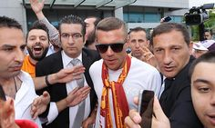 Lukas Podolski arrives in Istanbul to finalise his move to Galatasaray