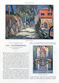 Ferdinand Bac 1924 Oeuvre Architecturale & Decorative, Villa Méditerranéenne Les Colombières, Article