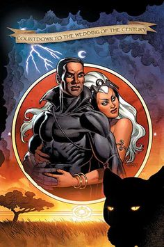 Black Panther & Storm by Joseph Michael Linsner