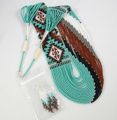 1/2 - Navajo Beaded Necklace-Rena Charles - HOELS INDIAN SHOP HOELS INDIAN SHOP
