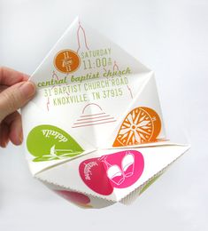 Cootie Catcher Wedding Invitation Suite SAMPLE ONLY by onelittlem