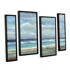 Shop for ArtWall Silvia Vassileva's Seashore, 4 Piece Floater Framed Canvas Staggered Set. Get free delivery at Overstock.com - Your Online Art Gallery Store! Get 5% in rewards with Club O!