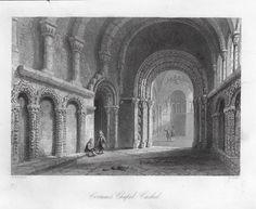 Bartlett Antique Print - CORMAC'S CASTLE CASHEL - Steel Engraving - 1840