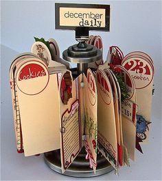 Handmade December Daily ATC style rotary.