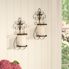 Traditional Scroll Iron Sconce (Set of 2)