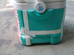 Alpha Chi Omega Painted Cooler