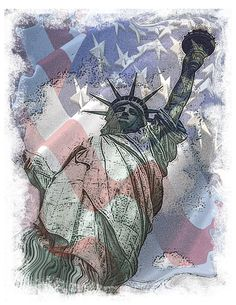 graphic t shirt statue of liberty american by OriginalMindsTees
