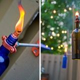 We've been looking for a little extra lighting for our deck, and we think this DIY would not only do the trick, but also make the space even better. Turning a wine bottle into a torch is bright idea and creative reuse at its best…