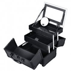 SONGMICS Portable Makeup Train Case Mini Alumi Cosmetic Organizer Box with Mirror 2 Trays Black out of 5 stars via 150 ratings See Buy Options in Home & Kitchen (See Top