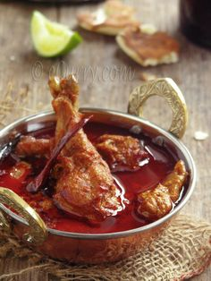rajasthani red curry skip the meat.the curry looks sumptuous Indian Chicken Recipes, Veg Recipes, Spicy Recipes, Curry Recipes, Indian Food Recipes, Asian Recipes, Cooking Recipes, Chicken Recepies, Indian Foods